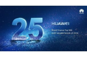 Huawei se popeo na 25. mesto liste Brand Finance Global 500 2018